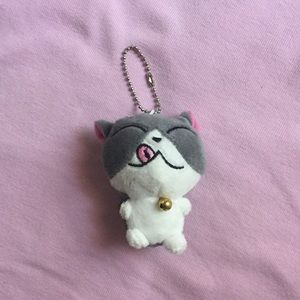 Grey striped kitten with tongue out NWOT